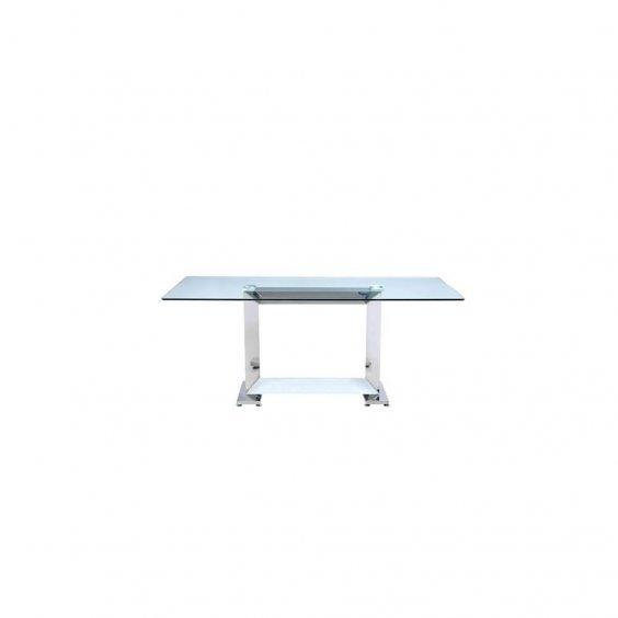 שולחן אוכל זכוכית מדגם ורסנו