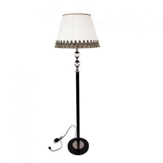 מנורה עומדת עם אהיל מעוטר