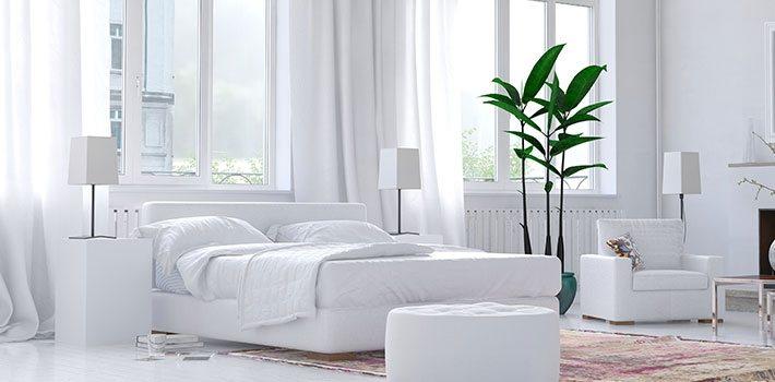 עיצוב הבית בצבע הלבן