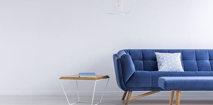 עיצוב הבית בצבע הכחול