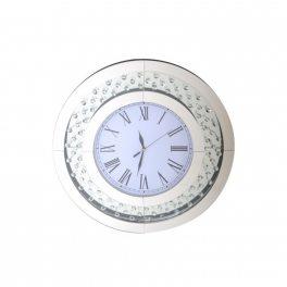 שעון עגול עם קריסטלים