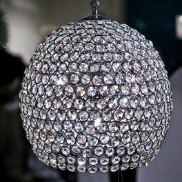 מנורת תליה כדור קריסטל