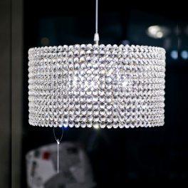 מנורת תליה צילינדר קריסטל