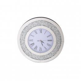 שעון עגול עם מסגרת מנצנצת