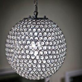 מנורת תליה כדור קריסטל 2