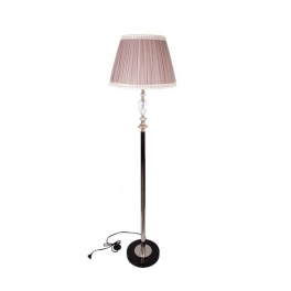 מנורה עומדת עם אהיל ורוד