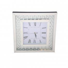 שעון מרובע עם אבני קריסטל
