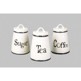 סט תה קפה סוכר לבן