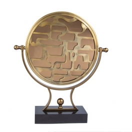 קישוט עיגול מראה זהב