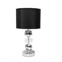 מנורה שולחנית כדורי קריסטל שחור